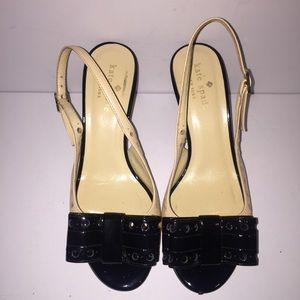 Kate Spade Patent Leather Slingback Pumps.